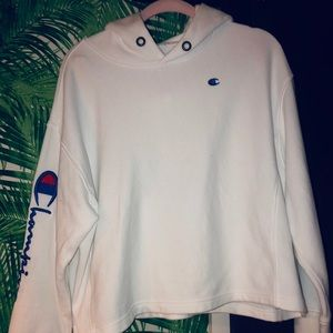 Champion Ribbed White Sweatshirt